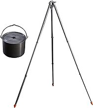 WHFKFBS Outdoor Picnic Cooking Tripod Campfire