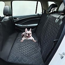 Whinop Car Back Seat Cover Black Dog Boot Cover