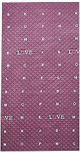 Whinop Letter Pattern Patio Door Curtain
