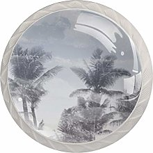 Whirling Tree Shadow Kitchen Cabinet Knobs Round