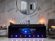 Whirlpool Bath Black Sanitary Acrylic Glass