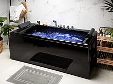 Whirlpool Bath Black Sanitary Acrylic Padded