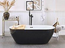 Whirlpool Bath Hot Tub Black Spa Free Standing