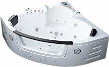 Whirlpool Bath TUB SPA Corner White Bath TUB 150 x