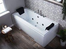Whirlpool Bath White Sanitary 150 x 75 cm