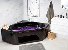 Whirlpool Corner Bath Black Sanitary Acrylic LED