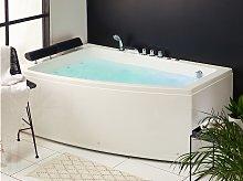 Whirlpool Corner Bath White Acrylic 182 x 121 cm