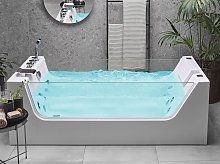 Whirlpool Hot Tub White Acrylic Freestanding Bath