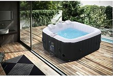 Whirlpool Spa Pool Wellness Heating Massage Inflatable In-Outdoor Square 550L - Arebos