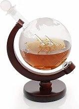Whiskey carafe in globe design - globe decanter