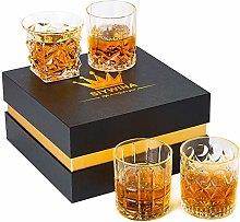 Whiskey Glass Crystal Rocks Glasses Thick Bottom