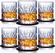 Whiskey Glass Set of 6, Scotch Bourbon 10oz