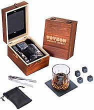 Whiskey Stones and Glass Gift Set for Men – 4