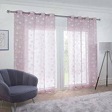 Whisper Eyelet Voile Curtain 57X54' Blush