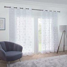 Whisper Eyelet Voile Curtain 57X54' White