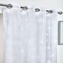 Whisper Eyelet Voile Curtain 57X72' White