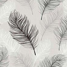 Whisper Feather Quality Wallpaper Arthouse White