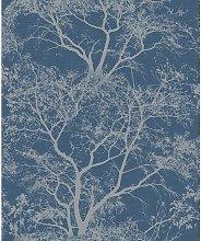 Whispering Trees Dark Blue Wallpaper 65402 -