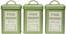 Whitby Canisters Green Keep Your Food Fresh With