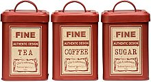 Whitby Canisters Red Keep Your Food Fresh With