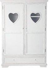 White 2-Door 1-Drawer Wardrobe Valentine