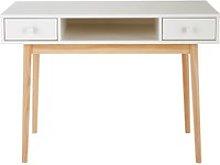 White 2-Drawer Desk