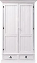 White 2-Drawer Wardrobe Newport