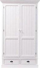 White 2-Drawer Wardrobe