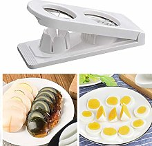White 2 in 1 Egg Slicer Cutter, 2-Way Egg Slicer,