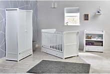 White 3 Piece Nursery Furniture Set - East Coast