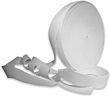 White 38mm Cotton Webbing Tape Strapping 1.5 Inch