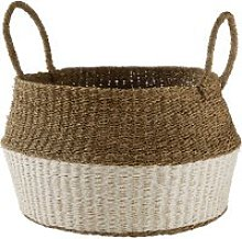 White and beige paper basket