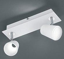 White and chrome LED spotlight Narcos - 2 bulbs