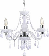 White and Chrome Marie Therese Style 3 x 40W