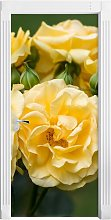 White and Yellow Roses Door Sticker East Urban Home