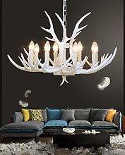 White Antler Chandelier, Antler Ceiling Lamp,