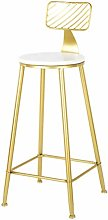 White Bar Stools, Kitchen Bar Stool with Gold