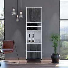 White Bar Storage Cabinet Cupboard 2 Drawer and 1