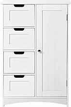 White Bathroom Cabinet, Free-standing Floor