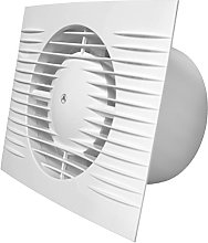 White Bathroom Kitchen Toilet Extractor Fan 100mm
