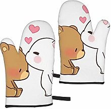 White Bear Brown Bear Oven Mitts,Heat Resistant