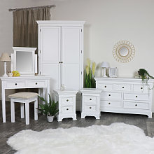 White Bedroom Furniture, Double Wardrobe, Large