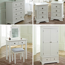 White Bedroom Furniture, Wardrobe, Chest of