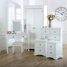 White Bedroom Set, Wardrobe, Chest of Drawers,