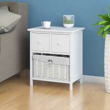 White Bedside Table Shabby Chic Storage Unit
