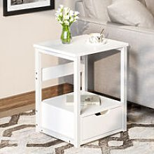 White Bedside Tables, Bedside Cabinet with 1