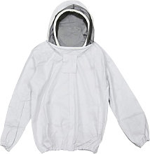White beekeeper jacket with removable protection