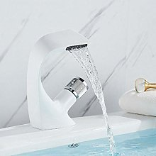 White Cascade Bathroom Sink Faucet Creative Hot