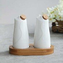 White Ceramic Seasoning Bottle Sealed Jar Spice