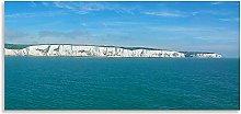 White Cliffs of Dover Art Seascape Blue Horizon